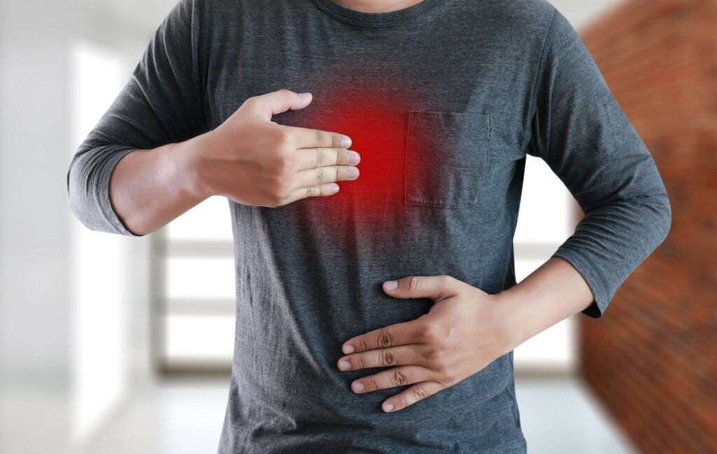 unhealthy gut - heartburn